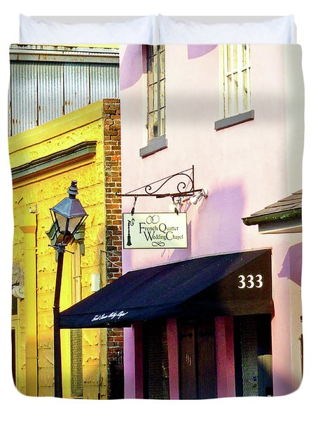 The French Quarter Wedding Chapel Duvet Cover