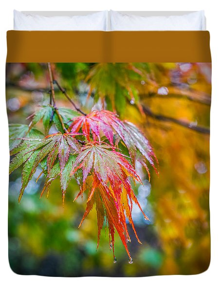 The Freshness Of Fall Duvet Cover by Ken Stanback