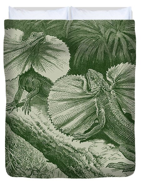 The Frilled Lizard Duvet Cover by David Davies
