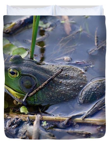 The Frog Remains Duvet Cover