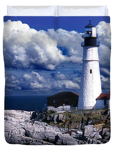 The Front At Portland Head Duvet Cover