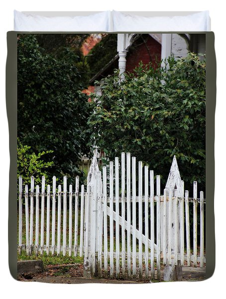 The Front Gate Duvet Cover by Lynn Jordan