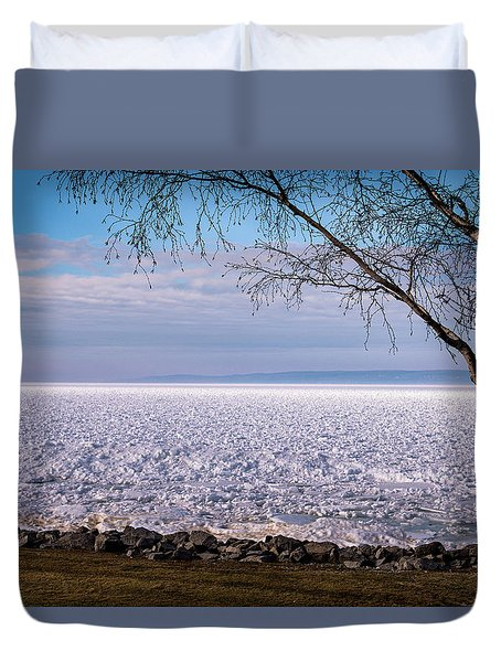 Duvet Cover featuring the photograph The Front Is Coming by Onyonet  Photo Studios