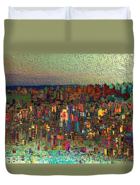 The Fun Side Of Town Duvet Cover
