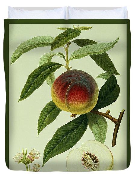 The Galande Peach Duvet Cover
