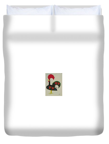 The Galo De Barcelos Duvet Cover