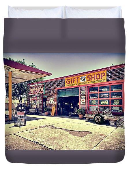 The Garage Duvet Cover