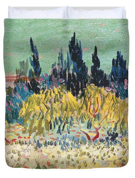The Garden At Arles  Duvet Cover by Vincent Van Gogh