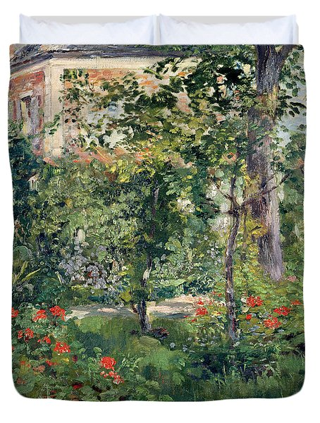 The Garden At Bellevue Duvet Cover by Edouard Manet