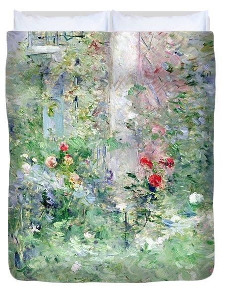 The Garden At Bougival Duvet Cover by Berthe Morisot