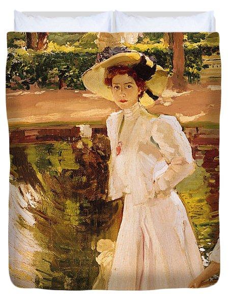 The Garden Duvet Cover by Joaquin Sorolla y Bastida