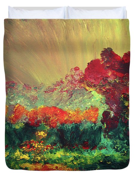 The Garden Duvet Cover by Karen Nicholson