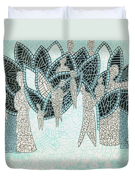 The Garden Of Eden Duvet Cover by Reb Frost