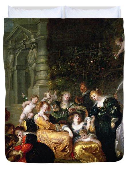 The Garden Of Love Duvet Cover by Peter Paul Rubens