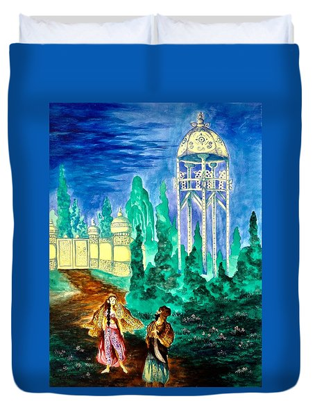 The Garden Of Pictures Duvet Cover