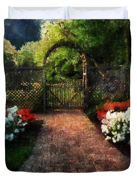 The Garden Path Duvet Cover