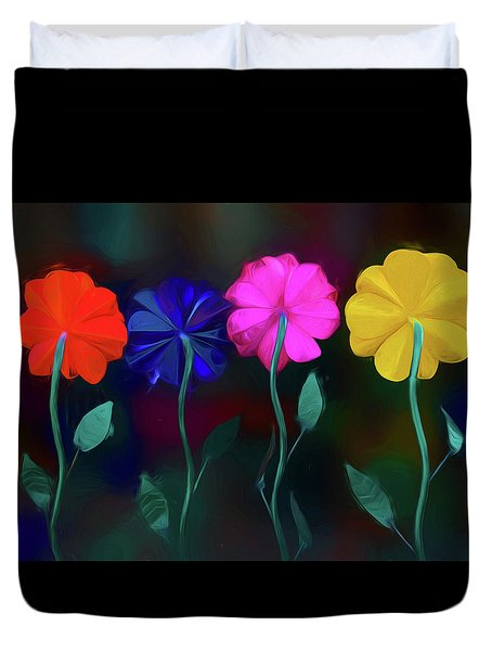 Duvet Cover featuring the photograph The Garden by Paul Wear