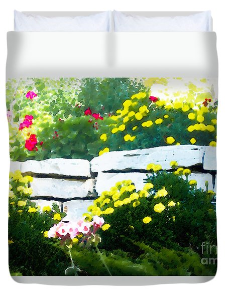 The Garden Wall Duvet Cover by David Blank