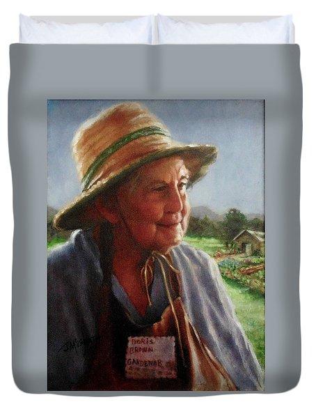 The Gardener Duvet Cover by Janet McGrath