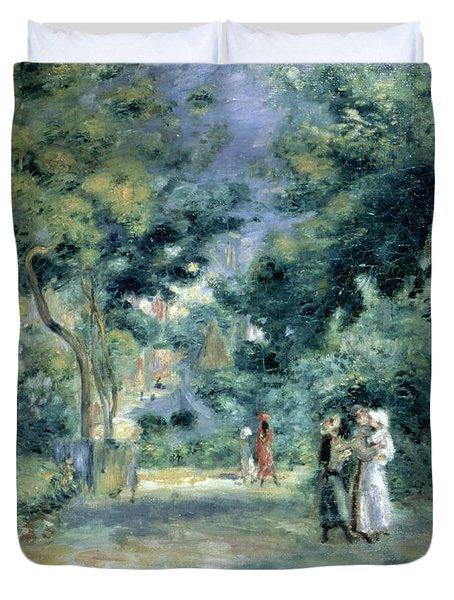 The Gardens In Montmartre Duvet Cover by Pierre Auguste Renoir