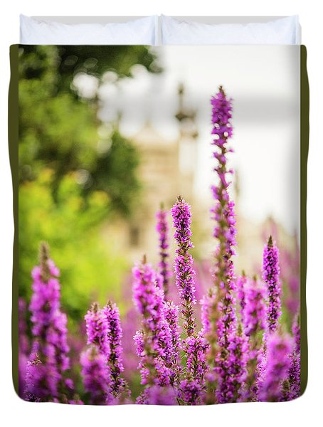 Duvet Cover featuring the photograph The Gardens Of The Royal Pavilion by MaryJane Armstrong