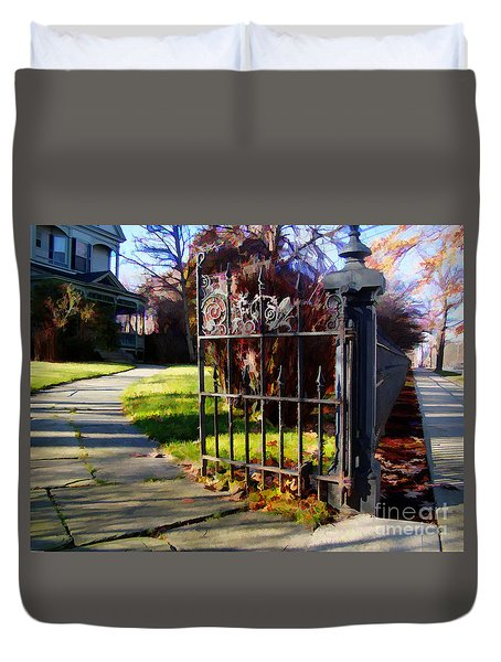 The Gate Duvet Cover by Betsy Zimmerli