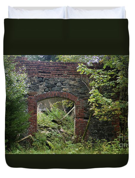 The Gate Into Nothingness Duvet Cover