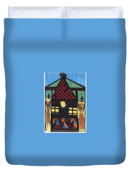 The Gate Keepers Duvet Cover