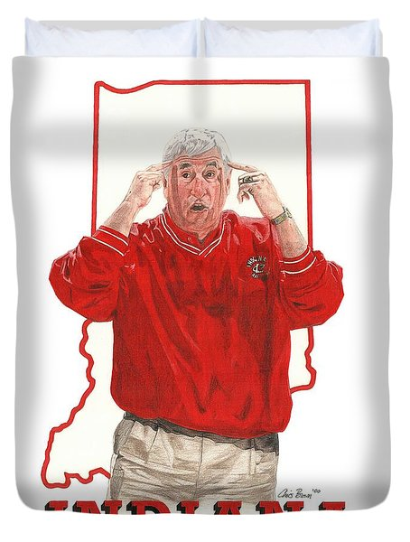 The General Bob Knight Duvet Cover