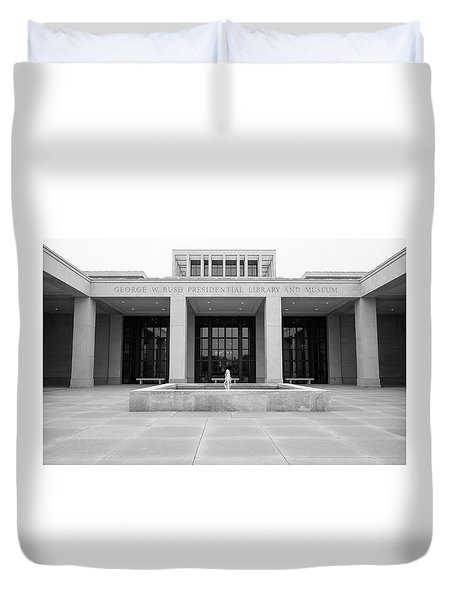 The George W. Bush Presidential Library And Museum  Duvet Cover by Robert Bellomy