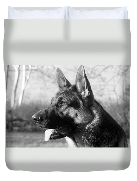 The German Shepherd Ever Watchful Ever Ready                                       Duvet Cover