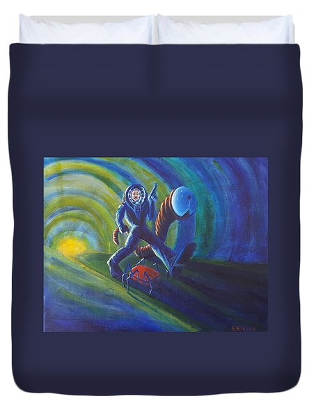 The Getaway Duvet Cover by Chris Benice