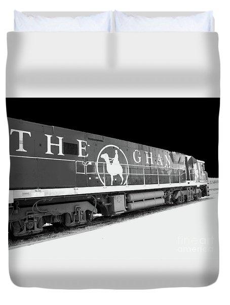 The Ghan Bw Duvet Cover