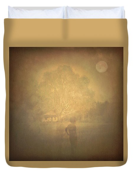 The Ghost Turns Away Duvet Cover