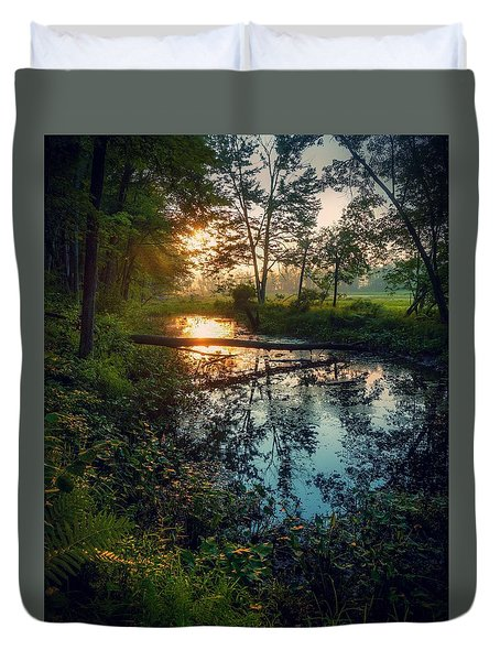 Duvet Cover featuring the photograph The Gift by Kendall McKernon