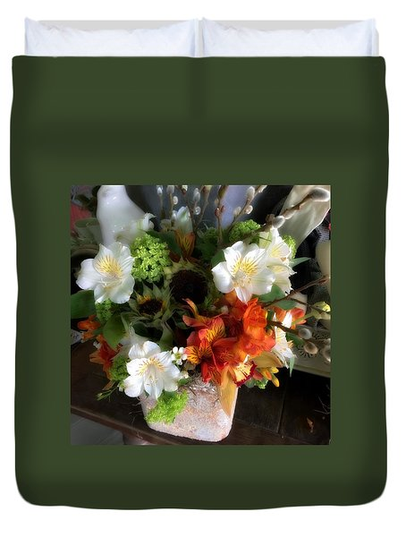 Duvet Cover featuring the photograph The Gift Of Giving by Peggy Stokes