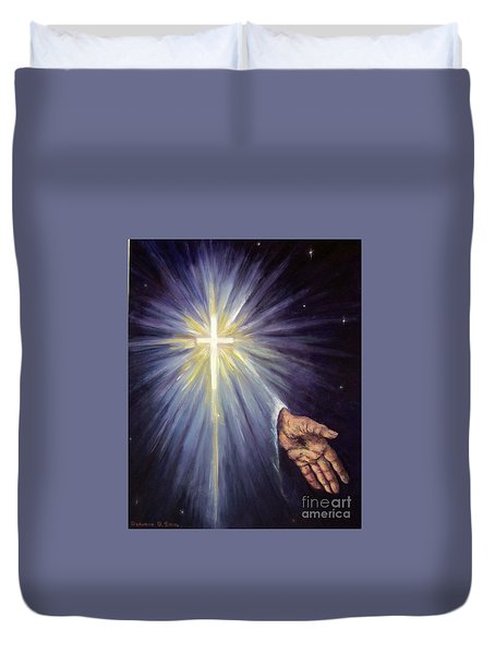 The Gift Of The Saviour Duvet Cover
