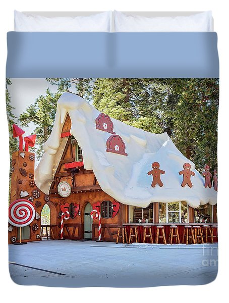 The Gingerbread House Duvet Cover by Eddie Yerkish