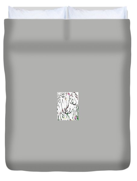 The Girl With Lambs Duvet Cover