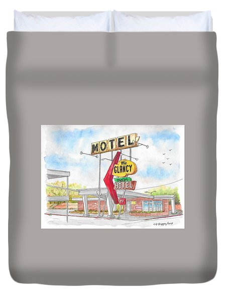 The Glancy Motor Hotel, Cinton, Oklahoma Duvet Cover