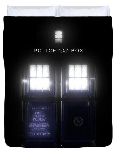 The Glass Police Box Duvet Cover