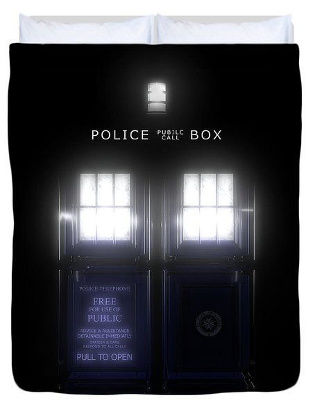The Glass Police Box Duvet Cover