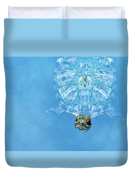 The Glass Turtle Duvet Cover