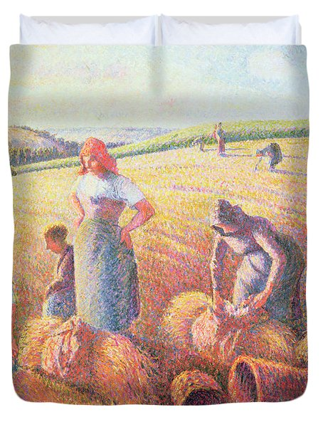 The Gleaners Duvet Cover by Camille Pissarro