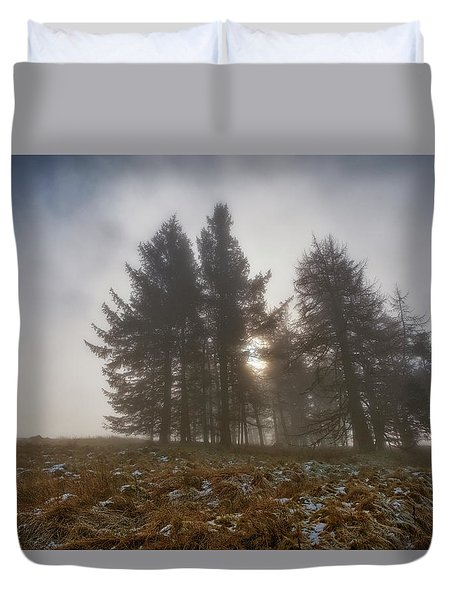 Duvet Cover featuring the photograph The Gloomy Sunrise by Jeremy Lavender Photography