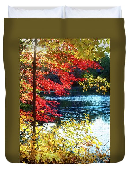 The Glory Of A New England Autumn Duvet Cover
