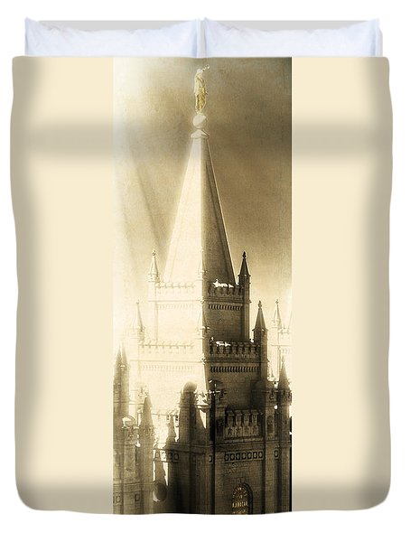 The Glory Of The Lord Shone Round About Duvet Cover by Greg Collins