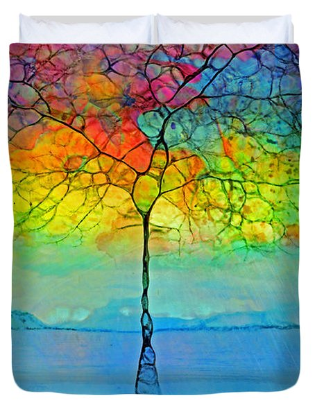 The Glow Tree Duvet Cover
