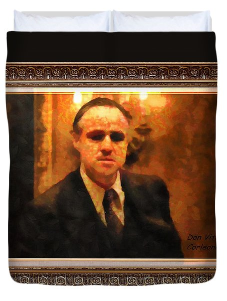 The Godfather Duvet Cover by Mario Carini