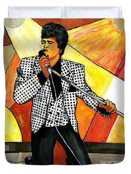 The Godfather Of Soul James Brown Duvet Cover